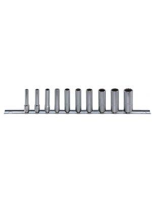 Juego de 10 llaves de vaso en regleta de clips 40aDL/10CL - Stahlwille