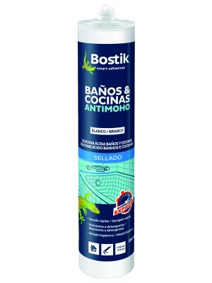 Silicona ácida antimoho SIL Baños y Cocinas Antimoho Bostik